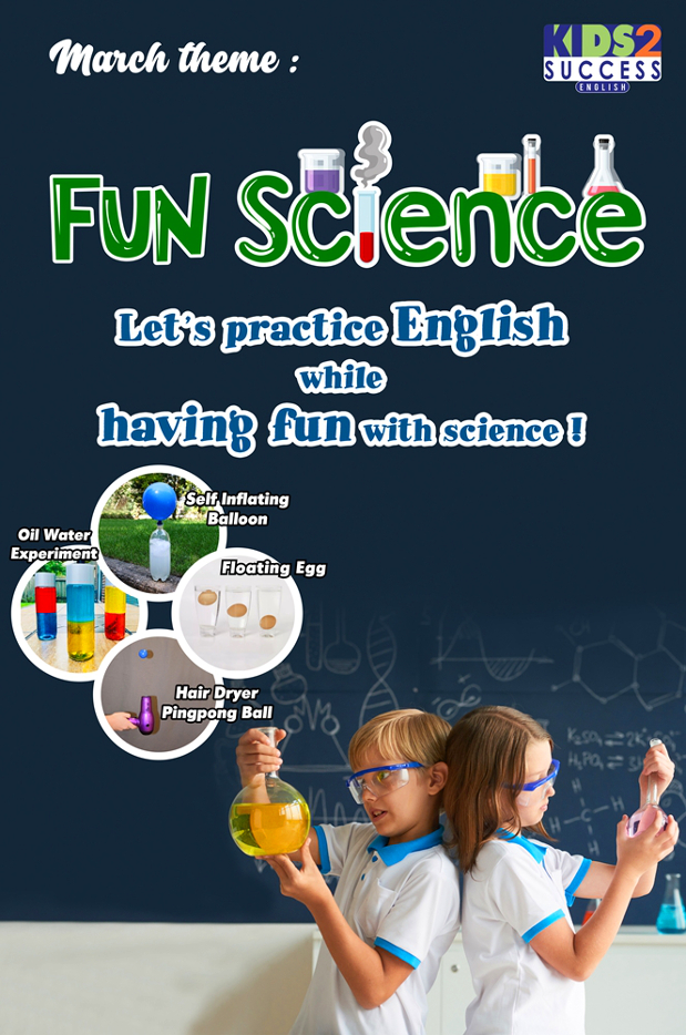 This March we'll have fun with Science and English!